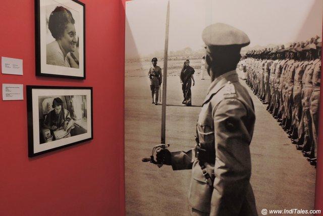 स्वराज भवन में इंदिरा गाँधी के छाया चित्र