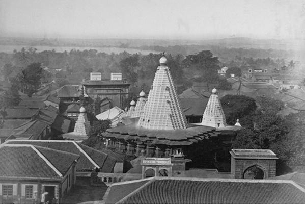 अम्बाबाई मंदिर का एक पुराना चित्र