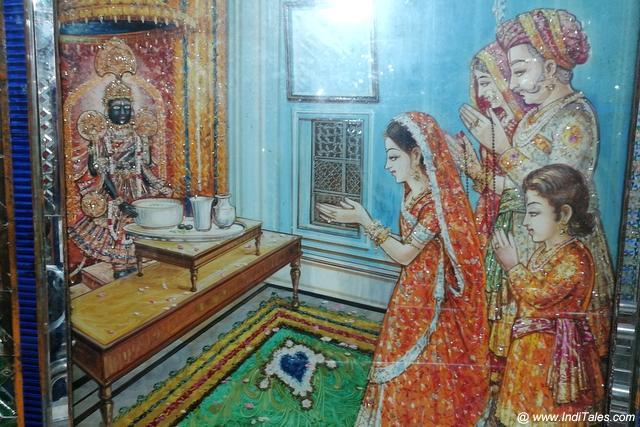 Meera offering milk to Charbhuja God