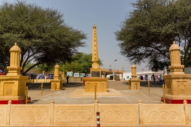 Vijay Stambh at Tanot Rai Temple - Devi Temples of Jaisalmer