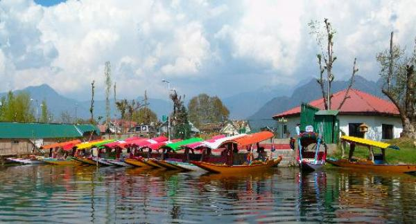 Shikaras Docked at Nagin Lake, Srinagar