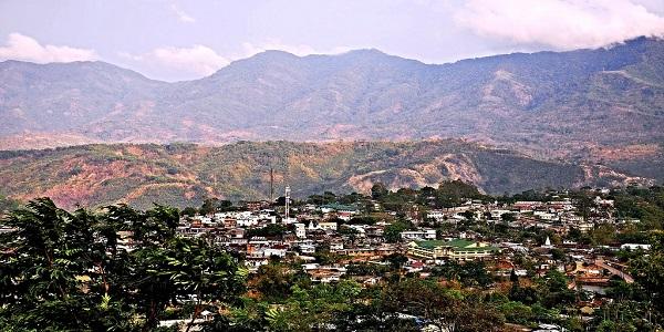 Settlement of Haflong town.