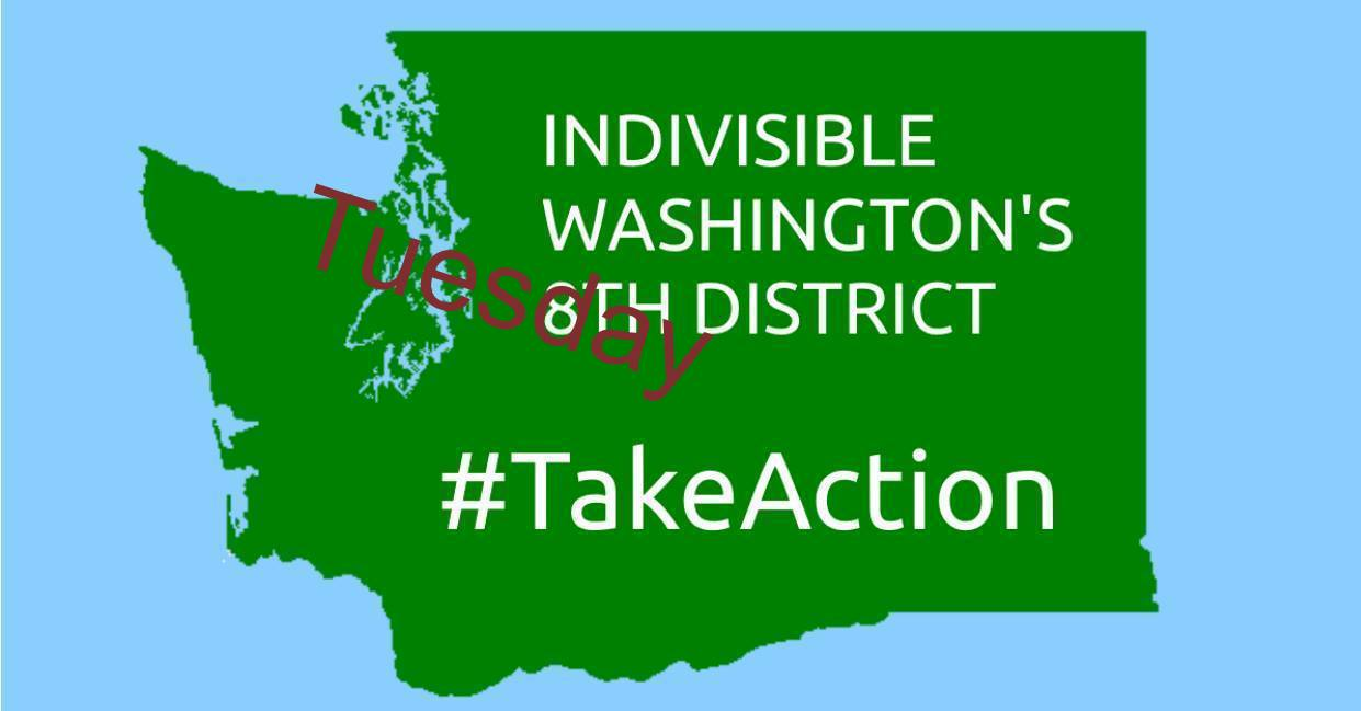Indivisible Washington's 8th District Tuesday Take Action