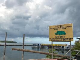 Near the Aquatic bar was this sign. Not a joke as one watchman was eaten by a crocodile