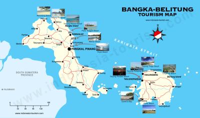 Bangka Belitung Map - Peta Bangka Belitung