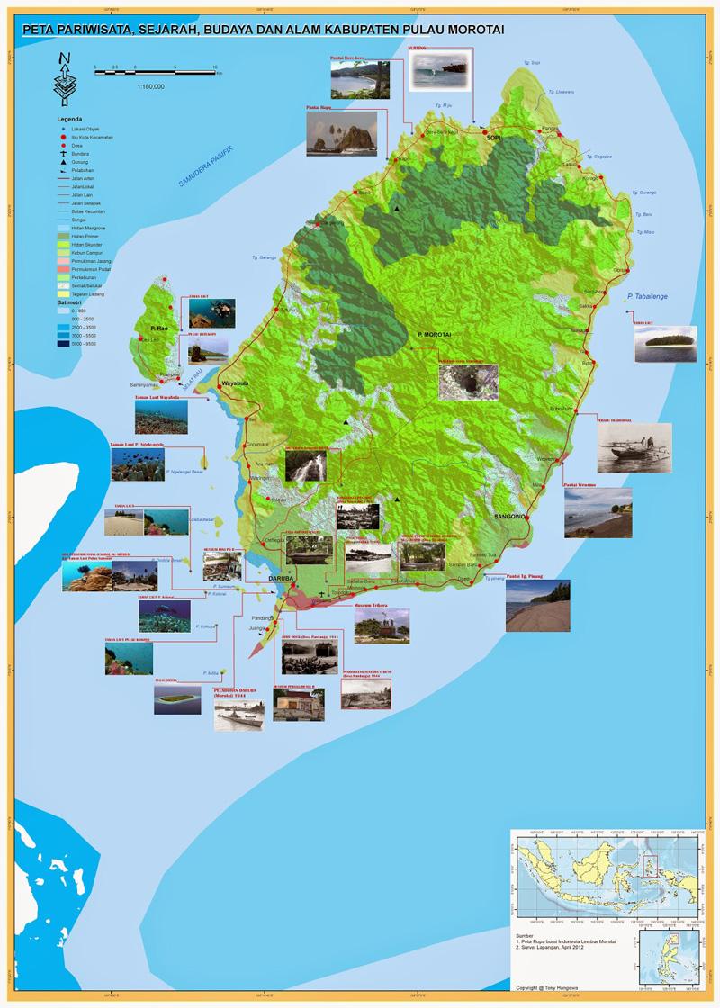 Morotai Island Map - Peta Pulau Morotai