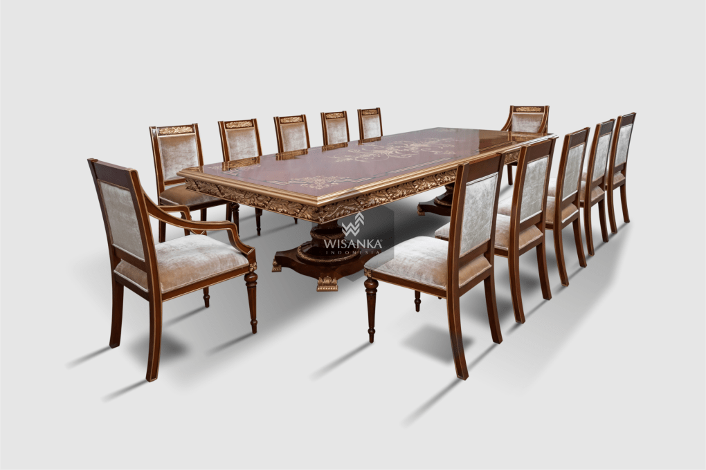 Large Teak Outdoor Dining Table Indonesia Wooden Classic Furniture