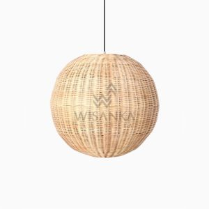 Taban Ball Hanging Lamp - Natural Rattan Hanging Lamp off