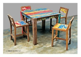 Bliss Bistro reclaimed boat furniture
