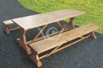 Ramona Dining Set Reclaimed Pine