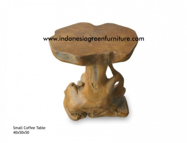 small teak root coffee table