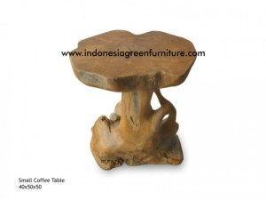 small teak root coffee table