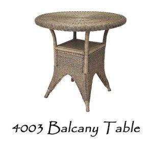 Balcany Rattan Table