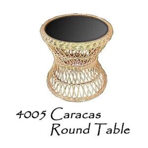 Caracas Rattan Round Table