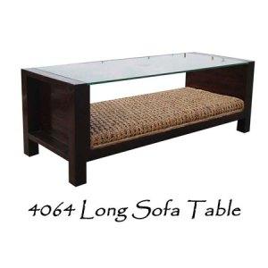 Long Sofa Wicker Table