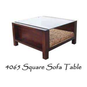 Square Sofa Wicker Table