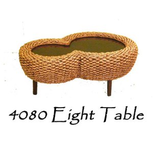 Eight Wicker Dining Table