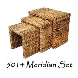 Meridian Wicker Stool Set