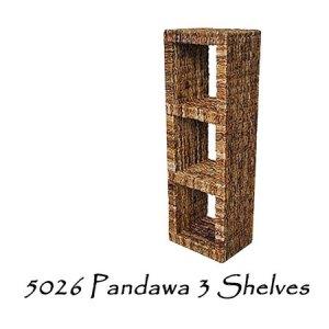 Pandawa 3 Wicker Shelves