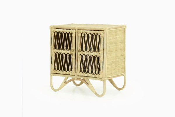 Mini Rattan Kids Cabinet