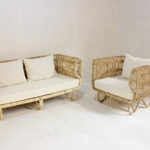Paula Rattan Chair Set