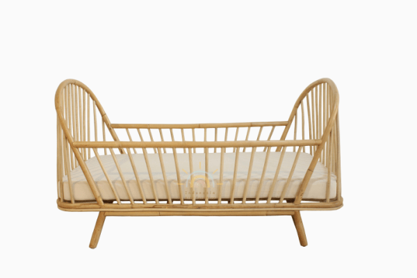 Loly Rattan Baby Bed