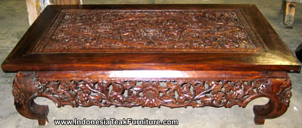 kitchen cabinet direct from factory samsung appliance package carved wood coffee table bali indonesia. teak ...