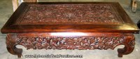 Carved Wood Coffee Table from Bali Indonesia. Teak Wood ...