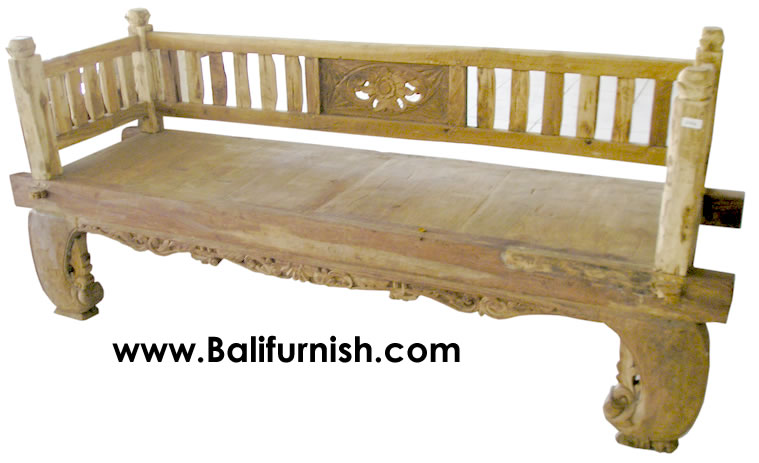 antique bench from bali