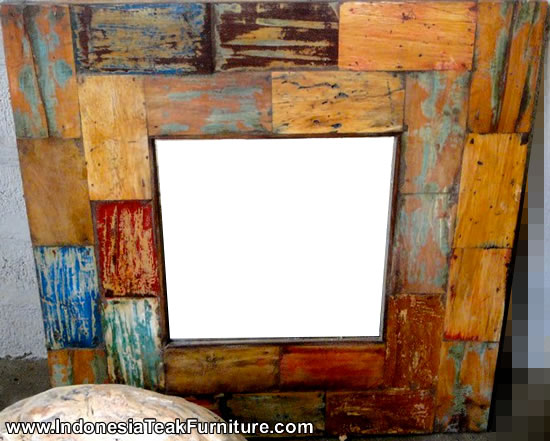 wooden kitchen table sets utility cabinets for deco 1-7 reclaimed boat wood mirror frames from bali