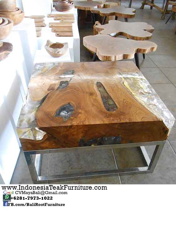 stackable chairs for less plumbing pedicure tar 8 teak steel table resin bali indonesia