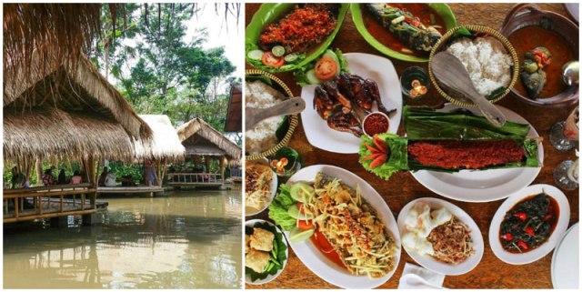 resto terapung Rumah Air Resto berbagai menu makanan pilihan, tempat wisata keluarga di bogor indonesia traveller guide