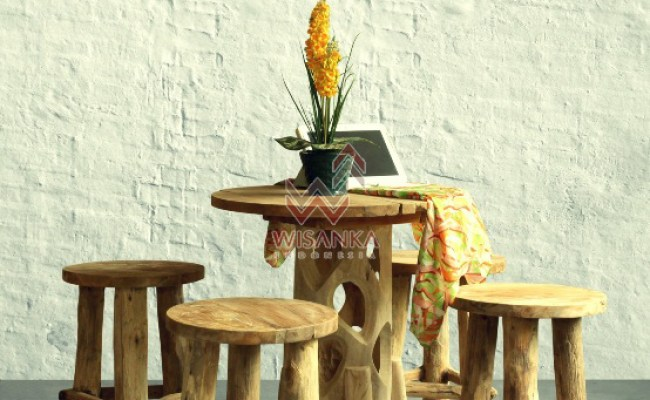 Katana Reclaimed Dining Set With Karawang Table Indoor