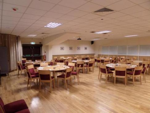 function room at northampton indoor bowling association