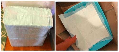 pet potty training pee pads | best litter box diy