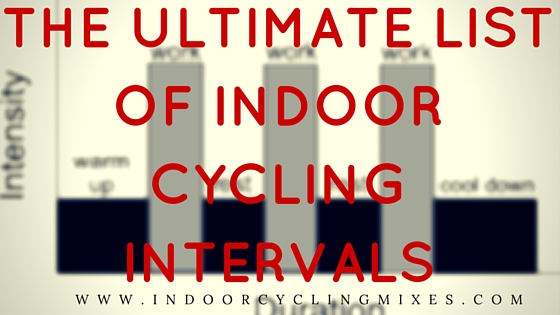 of interval workouts and hitt drills for indoor cycling spin class