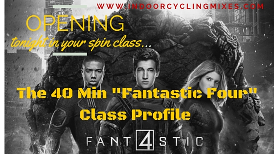 40 Min the Fantastic 4 Spin Class Profile