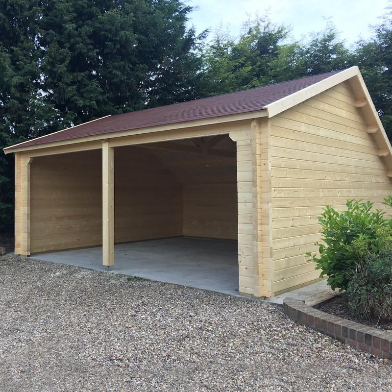 garage remise en bois 36 m 70 mm nysse tuindeco