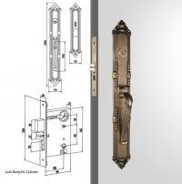 Antique Brass Door Handles Single Cylinder Luxury ...