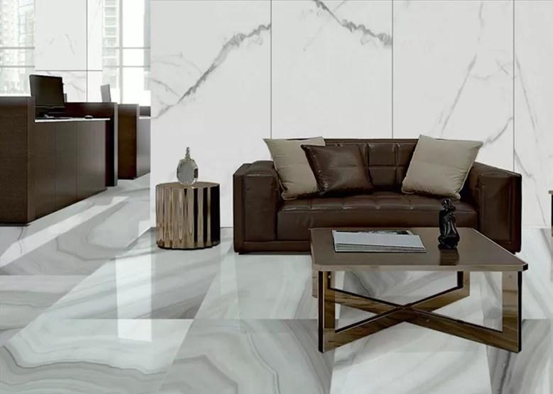 Luxury Large Living Room Porcelain Floor Tile Marble Look 24x48 Full Polished