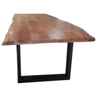 Esstisch Esszimmer Tisch Baumstamm Baumkante Akazie Massiv ...