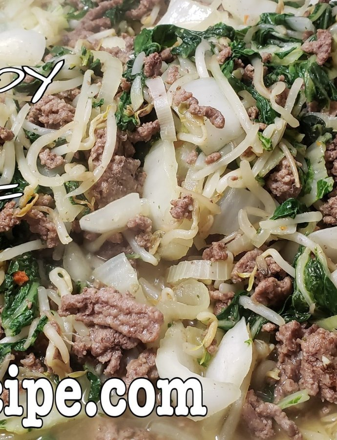 Bokchoy and Beef Stir Fry