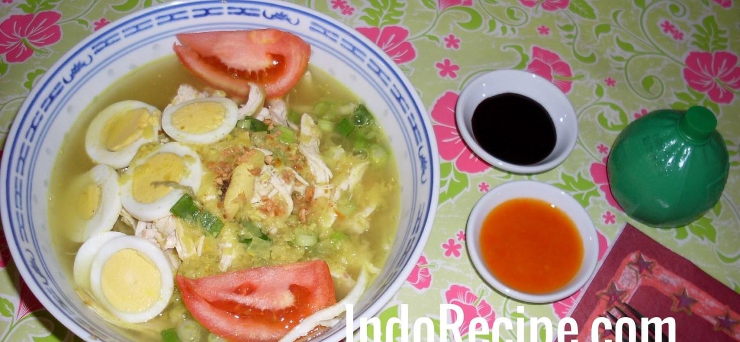 Chicken Noodle Soup (Soto Lamongan)