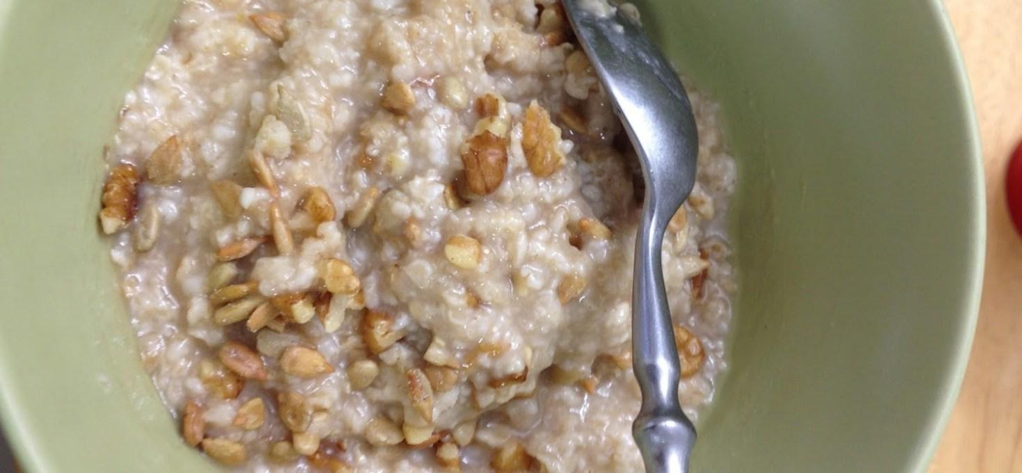 Walnut Crumbs Oatmeal