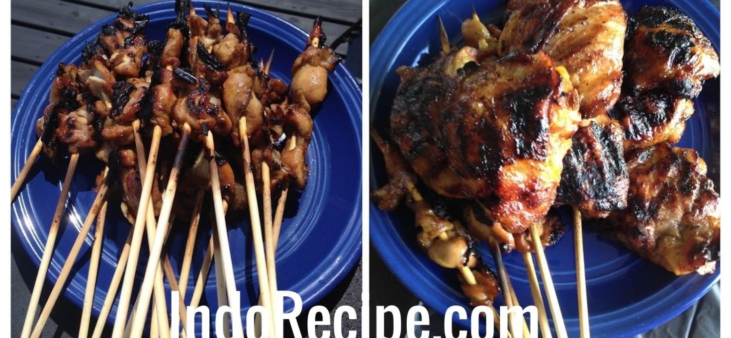 BBQ Chicken and Chicken Satay (Ayam Bakar dan Sate Ayam)