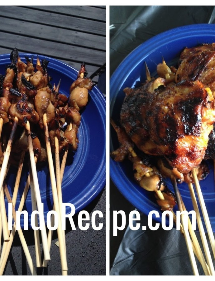 BBQ Chicken and Chicken Satay (Ayam Bakar dan Sate Ayam)