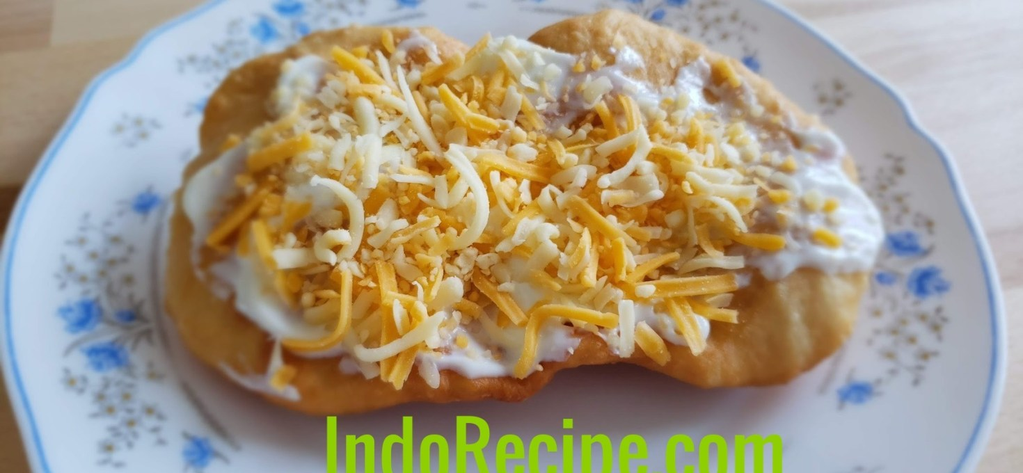 Garlic and Cheese Topped Fried Bread (Langos)