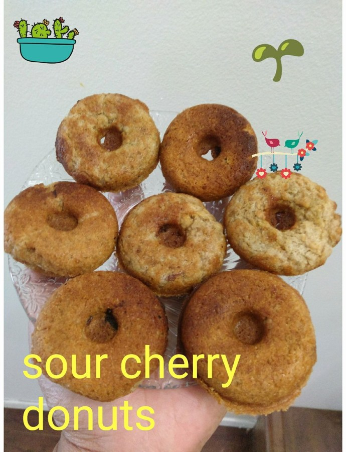 Sour Cherry Mini Donuts