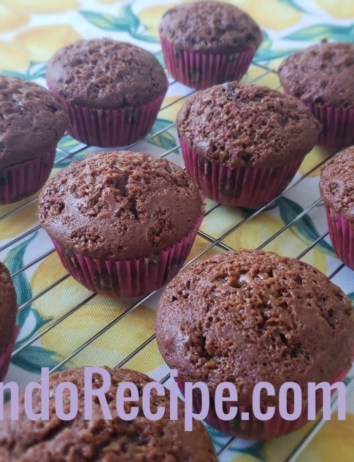 Chocolate Muffins with Toffee Bits