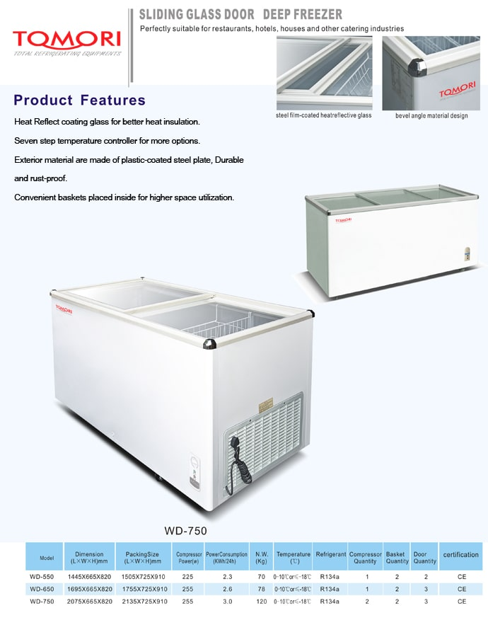 Tomori solid door chest freezer 2